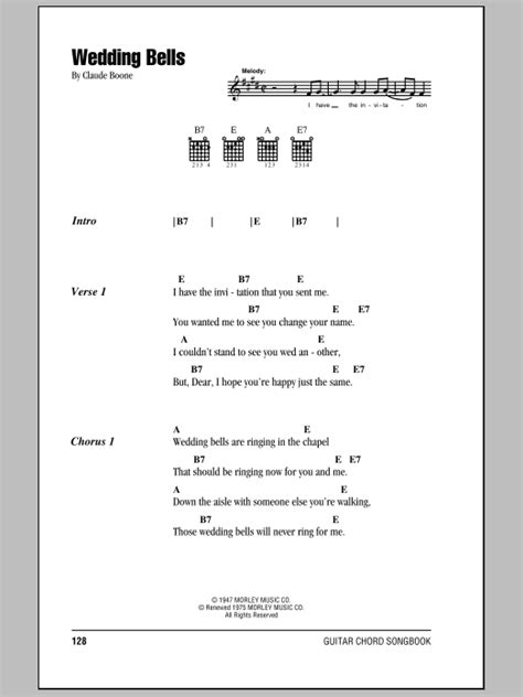 Wedding Bell Chords House by Wedding Bells Sheet Direct