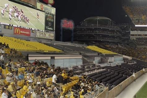 ford fan zone heinz field pats steelers turn their stadiums end zones into prime