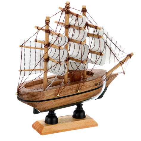 Handmade Ship Craft Wooden Sailing - 2017 top fashion new nautical europe home carved pine home