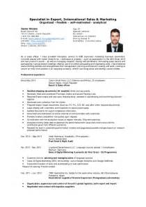 Sle Of C V Or Resume by Mr Javier Alonso Specialist In Export International Sales Cv
