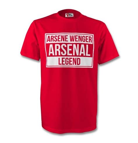 Tshirt Arsene Wenger official arsene wenger arsenal legend buy