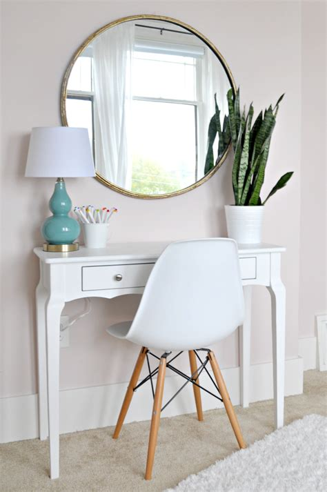 White Desk With Mirror by Mirror Above Console Table Reversadermcream
