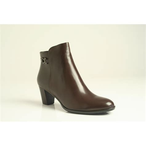 ankle boot dt114 in polished brown leather from nicholas