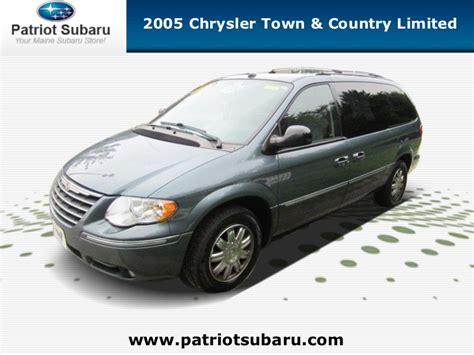 Chrysler Dealers In Maine by Used 2005 Chrysler Town Country Limited Portland Maine