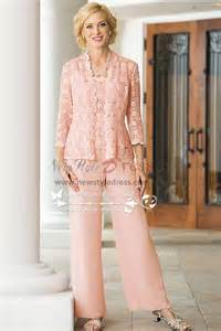 3pc pink lace trousers set mother of the bride pant suits