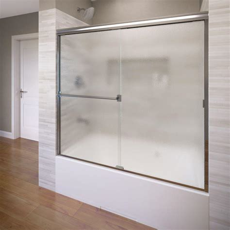 Bathtub Sliding Door by Basco Classic 56 In X 56 In Semi Framed Sliding Tub Door