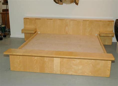 maple platform bed maple king size platform bed by gerald mccabe at 1stdibs