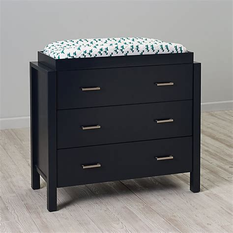 Uptown 3 Drawer Changing Table Navy The Land Of Nod Drawer Change Table