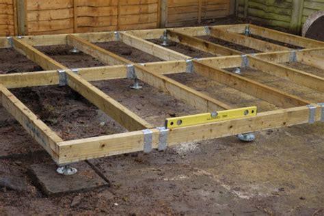 build  adjustable shed base