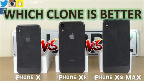fake goophone   iphone xs max  iphone xr comparison youtube