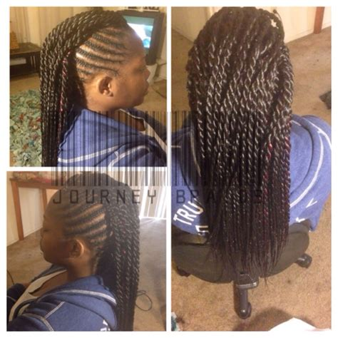 braided mohawk with senegalese twist mohawk with senegalese twist yelp
