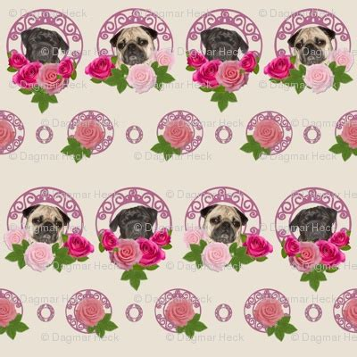pugs n roses 1000 images about pug fabric on deko fabric flowers and wands