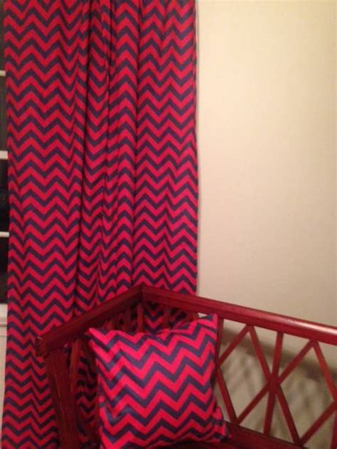 red chevron curtains sale red and navy chevron curtains
