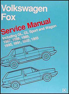1987 1993 vw fox bentley repair shop manual original