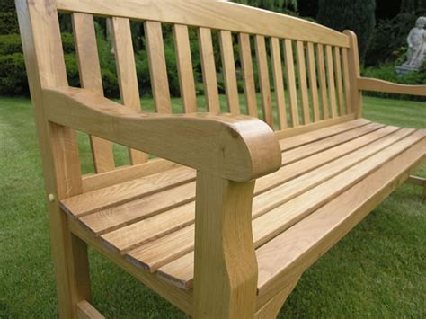 solid wood outdoor bench solid oak garden bench 4 seater 6ft simply wood