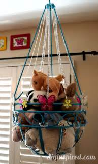 Hanging Stuffed Animal Storage Stuffed Animal Toy Storage Diy Inspired