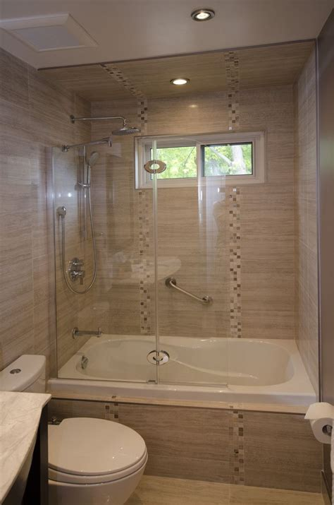 Small Bathroom Tub Ideas Tub Enclosure With Tub Shield Bathroom Renovations Portfolio Pinterest Tub Enclosures