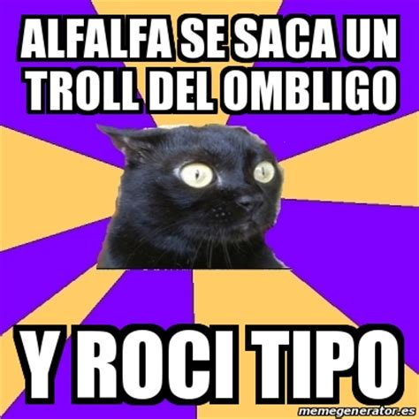 Alfalfa Meme - meme anxiety cat alfalfa se saca un troll del ombligo y