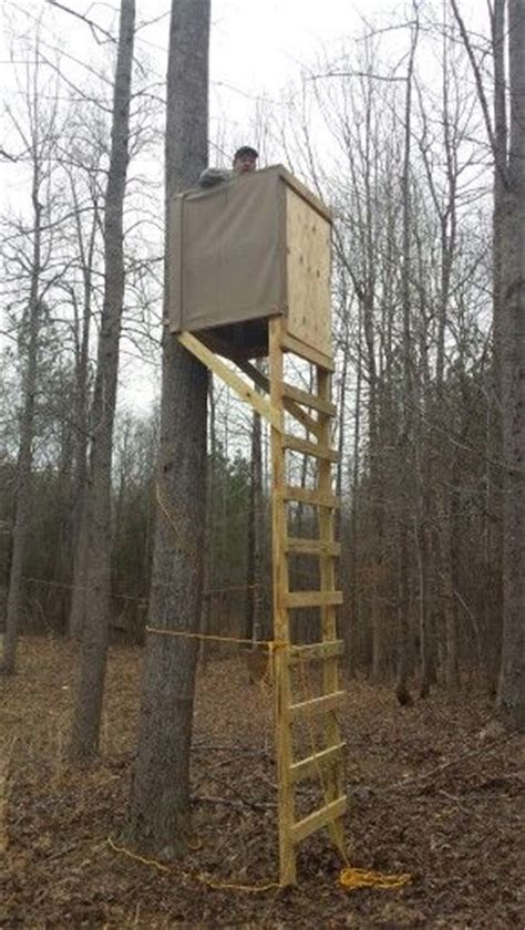 homemade wooden tree stands  gallery  deer blind