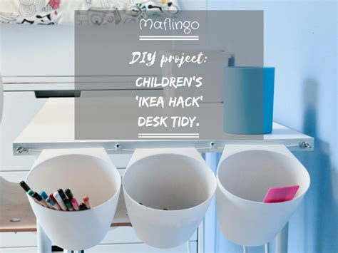 diy hack diy project children s ikea hack desk tidy