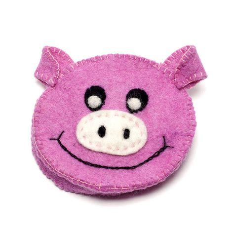 Handmade Felt Animals - handmade felt animal purse by felt so