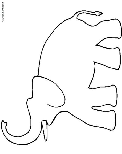 Printable String Templates - elephant color page elephant coloring pages coloring