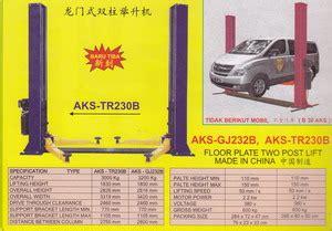 Power Lifier Glodok jg232b tr230b floor plate two postlife products of