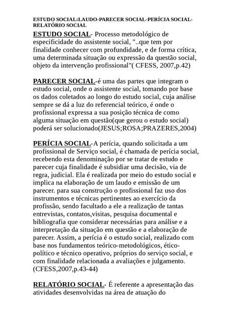 Estudo social - Uma ánálise social - Docsity