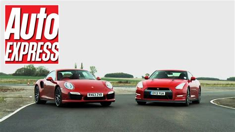 Porsche 911 Turbo Vs Gtr by Porsche 911 Turbo S Vs Nissan Gt R Review Auto Express