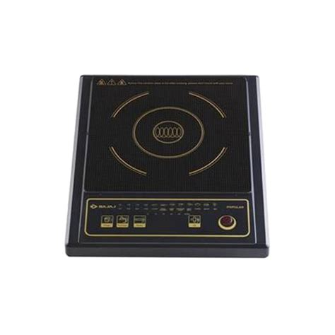 induction cooker with price buy bajaj popular induction cooktop black at best price in india on naaptol