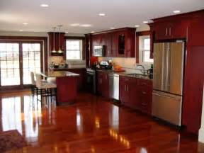 Kitchens With Cherry Cabinets And Wood Floors Cherry Wood Cabinets 171 Design The Kitchen