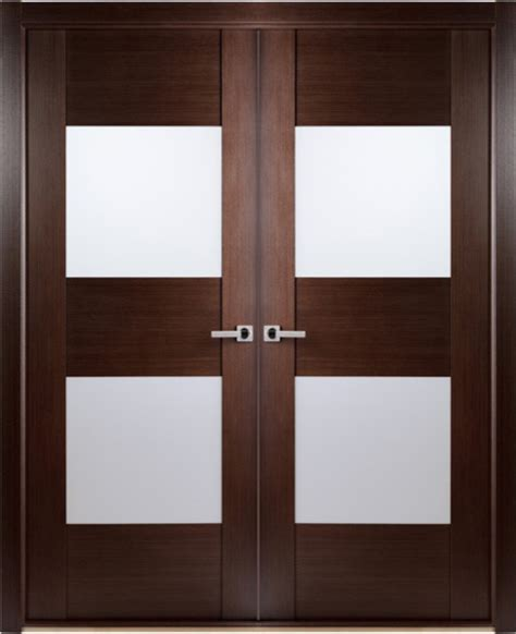 Modern Frosted Glass Interior Doors Contemporary Wenge Interior Door With Frosted Glass Contemporary Interior