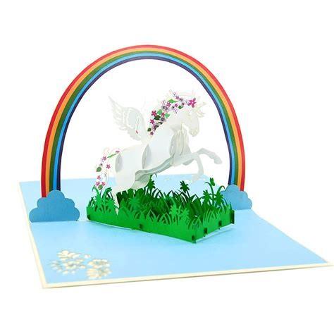 Unicorn Pop Up Card Template by Autumn Pop Up Cards Pop Up Greeting Card Manufacturer
