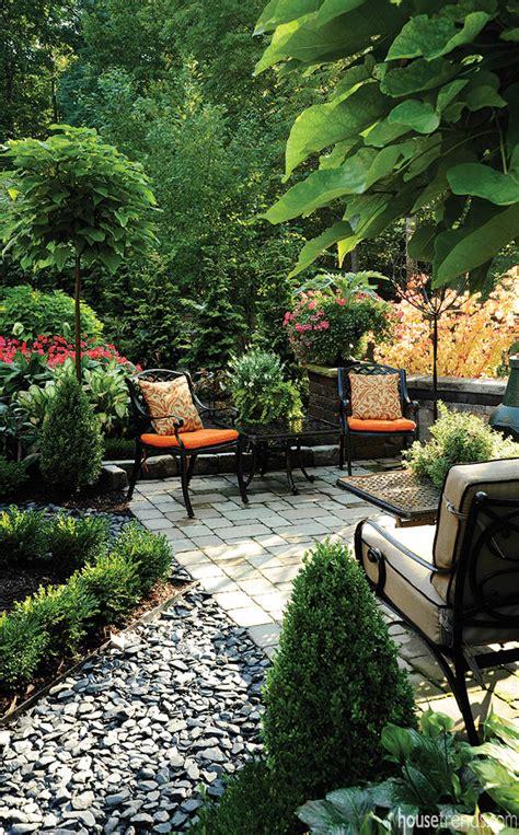 patio landscaping designs blooms in a garden design