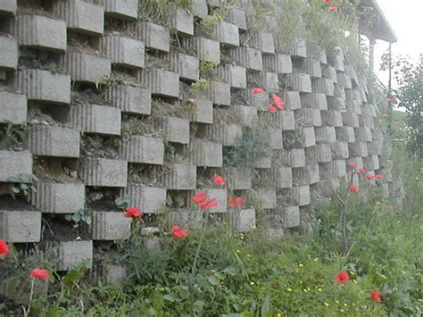 wall italian garden concrete block retaining wall