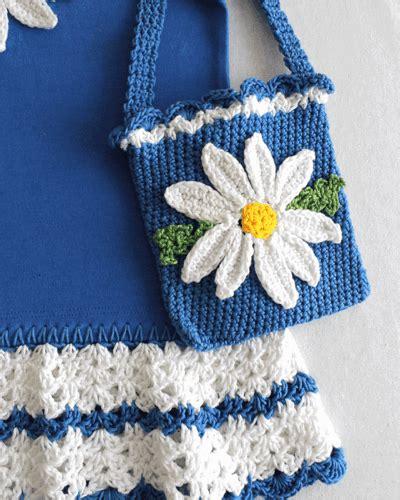 t shirt purse pattern daisy t shirt dress with hat and purse crochet pattern