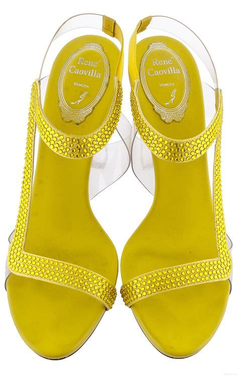Yellow Crystal Sandals   Shoes