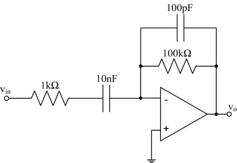 circuit diagram of integrator and differentiator using op ee 212l op differentiators and integrators