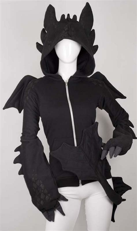 dragon design hoodie dragon hoodie with detachable tail incredible things