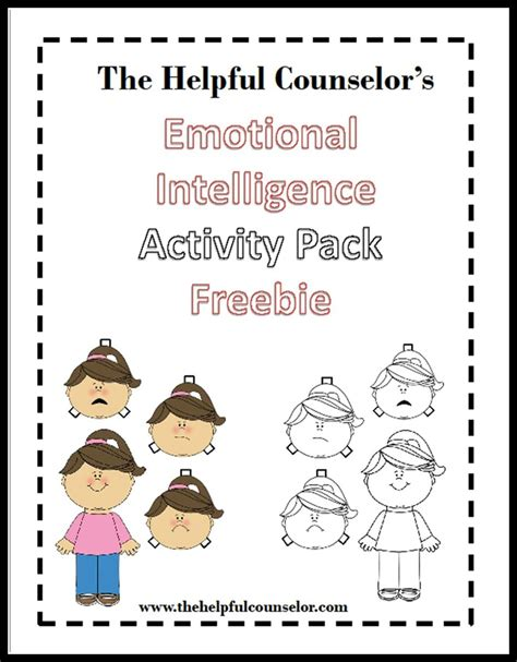 emotional intelligence worksheets emotional intelligence free activities elementary middle school c