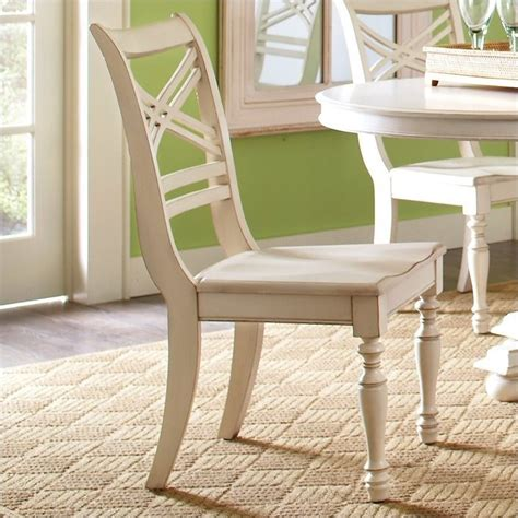 white x back dining chair river furniture placid cove x back dining chair in