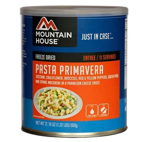 Dried Pasta Shelf by Mountain House Pasta Primavera In 10 Can