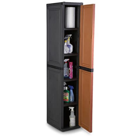 Slim Storage Cabinet Slim Utility Storage Cabinet 195162 Housekeeping Storage At Sportsman S Guide