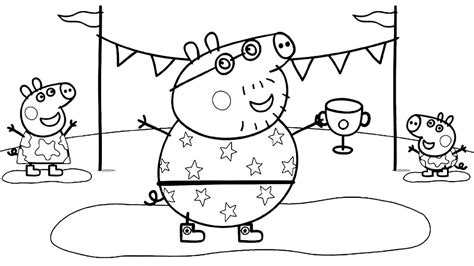 daddy pig coloring page 30 printable peppa pig coloring pages you won t find anywhere