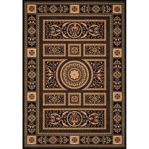 13 x 15 area rugs home dynamix empire black 12 ft 5 in x 15 ft 8 in indoor area rug 13 er8307 450 the home depot