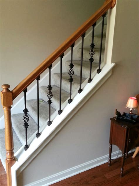 replace banister and spindles balusters iron crafters llc