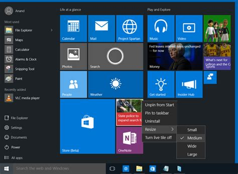 some start menu shortcuts are missing on windows 10 super user