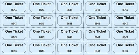 printable sheet of tickets sheet tickets 1 x1 and 1 x2 by jforms com