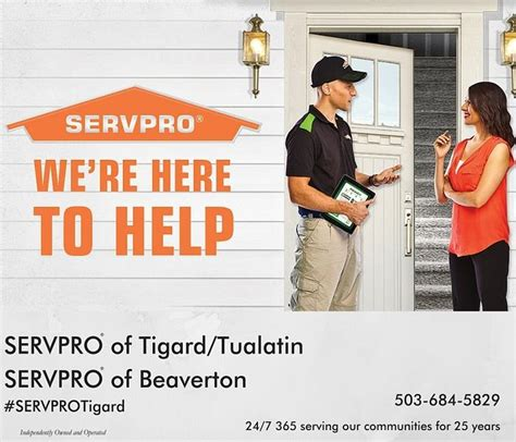 Home Cleaning Services In Tigard Who Can Help After A In My Home Servpro Of Tigard