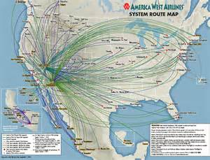 america west airlines route map